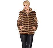 As Is Dennis Basso Platinum Collection Faux Fur Cropped Jacket - A295037