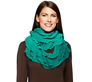As Is Amiee Lynn Ombre Ruffle Infinity Scarf - A295337