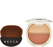 BECCA Shimmering Skin Perfector Split & Half Moon Brush - A297337