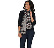 Joan Rivers Double Sided Plaid and Houndstooth Blanket Scarf - A298837
