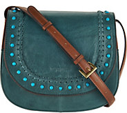 As Is Tignanello Vintage Leather Saddle Bag - A299237