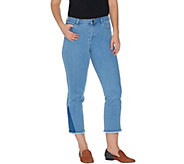 LOGO by Lori Goldstein Regular Crop Straight Leg Jeans - A301237
