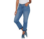 Isaac Mizrahi Live! Petite TRUE DENIM Boot Cut Crop Jeans - A302237