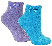 MUK LUKS Womens Chenille Slipper Sock 2 Pair P ack - A331037