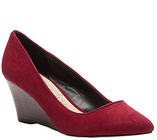 Sole Society Mid-Heel Wedge Pumps - Juli