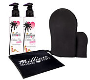 Million Dollar Tan Cabana Tan Extreme Face/Body& Mitt Set - A339937