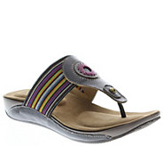 Spring Step LArtiste Leather Slide Sandals - Chuckles - A340137