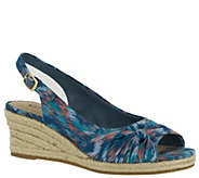 Bella Vita Slingback Wedge Espadrille Sandals -Sangria Too - A340737