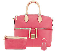 Dooney & Bourke Leather Satchel with Accessories - A202338