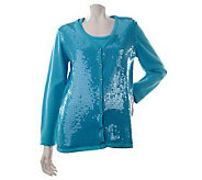 Quacker Factory Sequin Embellished Twinset - A212938