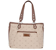 Judith Ripka Waverly Jacquard Tote w/ Expandable Zipper Sides - A213238