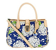 Dooney & Bourke Coated Cotton Hydrangea Print Double Handle Tote - A234838