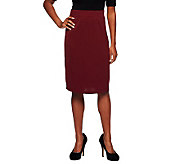 Susan Graver Milano Knit Pull-on Skirt with Flat Waistband - A235638