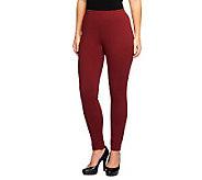 Liz Claiborne New York Regular Ponte Knit Pintuck Leggings - A237738