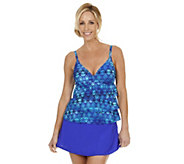 Ocean Dream Signature African Rhythm Tiered Tankini w/ Wrap Skirt - A252538