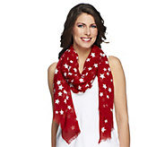 Joan Rivers Patriotic Stars & Stripes Forever Scarf - A254638