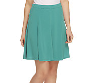As Is Susan Graver Liquid Knit 8 Gore Pull-On Skort - A259338