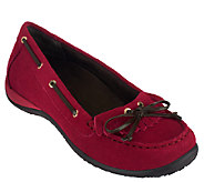 Vionic w/ Orthaheel Orthotic Suede Slip-on Loafers - Petaluma - A259638