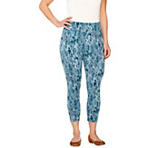 LOGO by Lori Goldstein Regular Pull-On Printed Knit Leggings - A261138