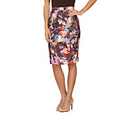 George Simonton Printed Scuba Knit Pencil Skirt - A262238