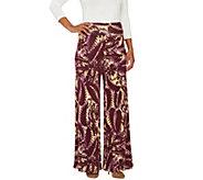 Lisa Rinna Collection Petite Printed Knit Palazzo Pants - A263138