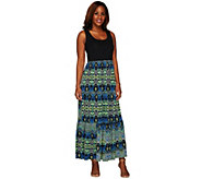 Women with Control Petite Printed Sleeveless Maxi Dress - A264338