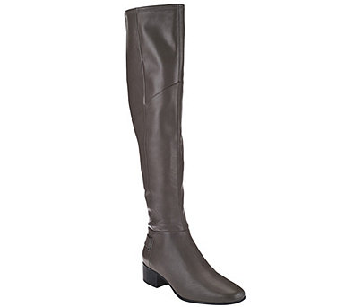 H by Halston Leather Over-the-knee Boots - Karlie - A271638