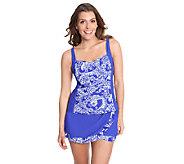 As Is Liz Claiborne New York Paisley Print Skirtini Swimsuit - A271738
