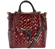 As Is Dooney & Bourke Large Woven Embossed Dawson Satchel - A279038