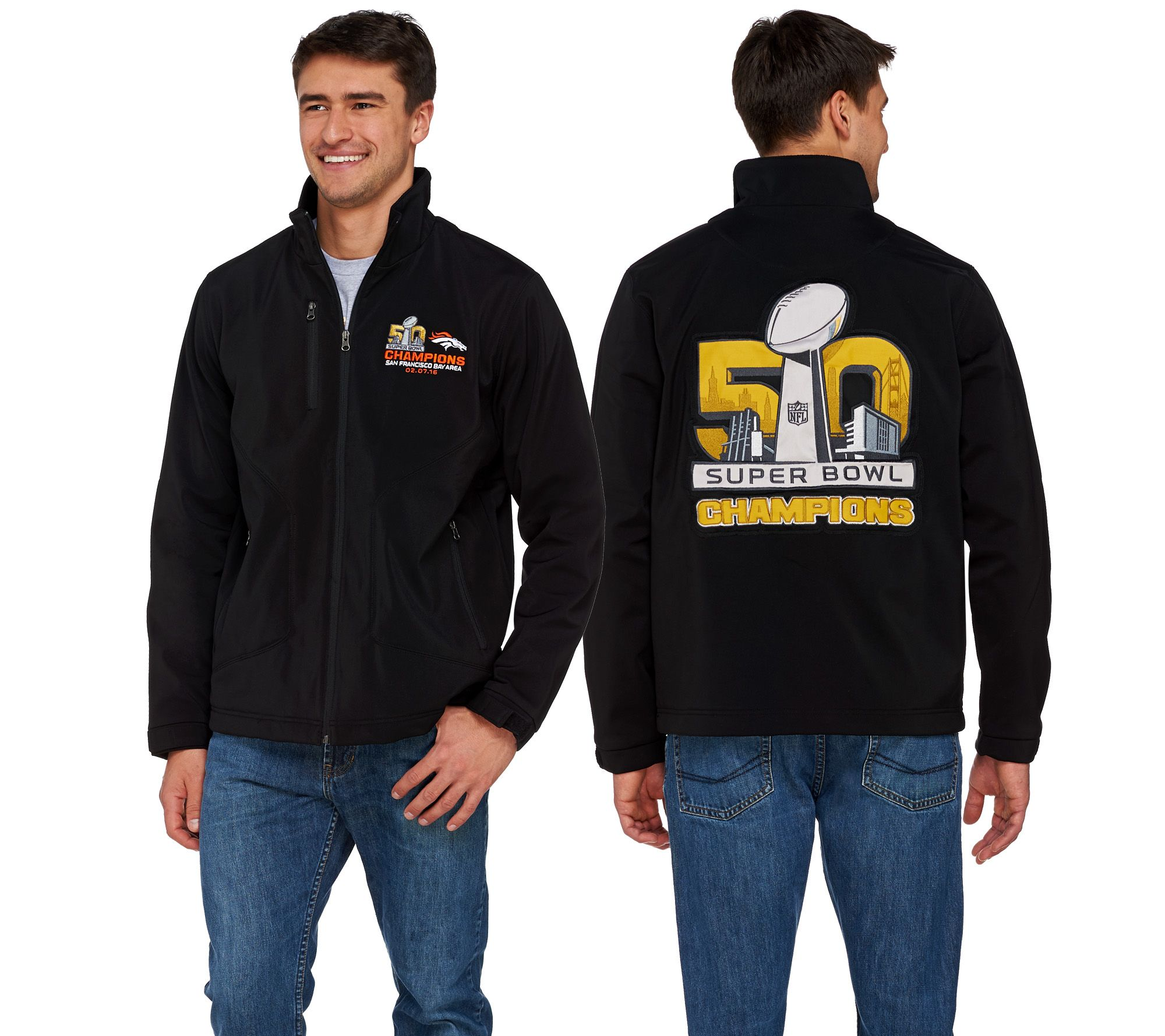 NFL Super Bowl 50 Champions Denver Broncos Men's Shell Jacket - A279838