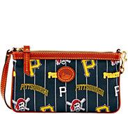 Dooney & Bourke MLB Nylon Pirates Large Slim Wristlet - A281638