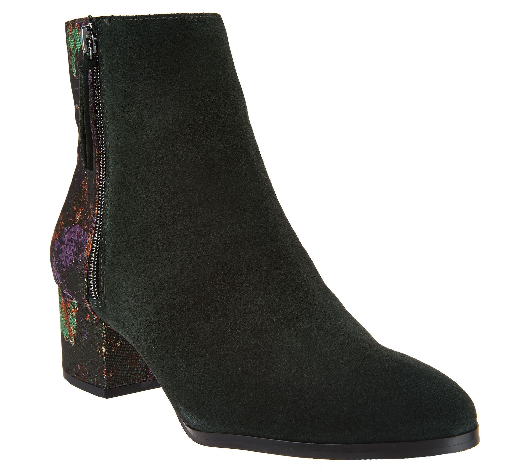 logo lavish by lori goldstein ankle boots with brocade back page 1 qvc com