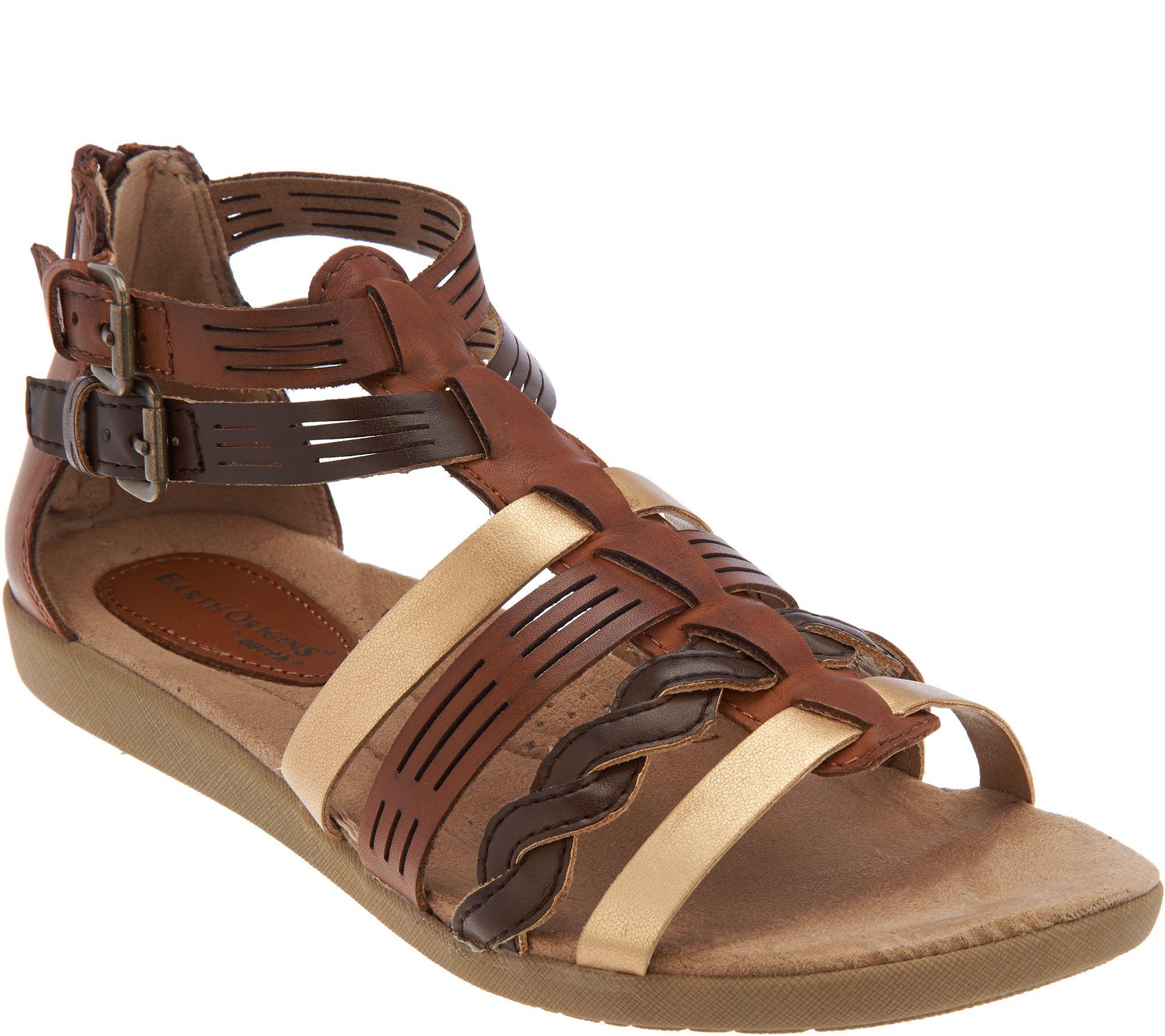 earth origins leather multi strap sandals nicole page 1. Black Bedroom Furniture Sets. Home Design Ideas