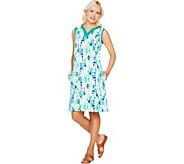 Denim & Co. Beach Knit Sleeveless Printed Dress - A291638