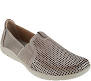 Earth Origins Perforated Leather Slip-On Shoes - Tanner - A303238