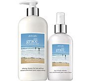 philosophy pure grace summer surf hair & body set - A358238