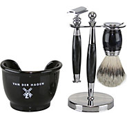 Van Der Hagen Black Marble Shave Set - A362838