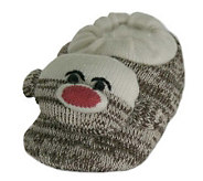 Unisex Sock Monkey Slippers - A207039