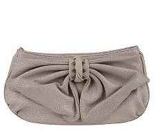 "Judith Ripka ""Lafayette"" Stingray Embossed Bow Clutch"