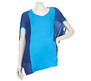 LOGO by Lori Goldstein Mixed Media Colorblock Top - A224639