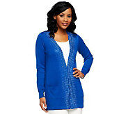 Joan Rivers Best of the Best Embellished Cardigan - A229039