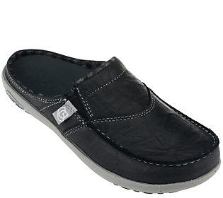 Spenco Slide Orthotic Leather Slip-on Shoes - Siesta