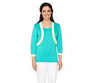 Bob Mackies 3/4 Sleeve Knit Shrug & Tank Twin Set - A254139