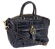 Dooney & Bourke Leather Croco Fino Satchel - A258239