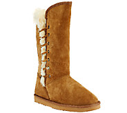 Lamo Suede Tall Shaft Boot w/ Faux Fur - Robyn - A258739