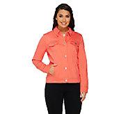 Liz Claiborne New York Colored Denim Jacket with Pockets - A261239