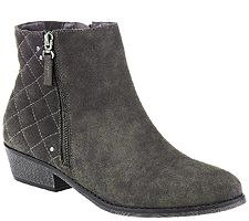 "As Is"" White Mountain Water Resistant Suede Ankle Boots"