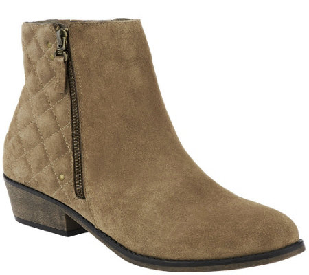 quot as is quot white mountain water resistant suede ankle boots