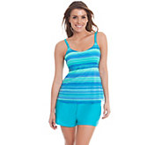 Ocean Dream Signature Sheer Bliss Mesh Tankini with Short - A263739