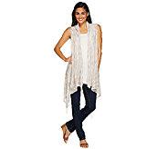 Tashon Everyday Knit Fringe Vest - A264039